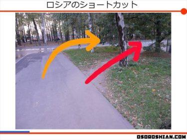 舗装された道よりけもの道!ロシア人はショートカットをする!