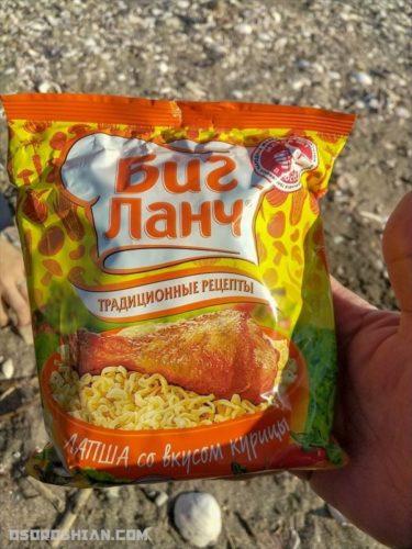 寒風吹き荒れる真冬の海岸でロシアのラーメンを食べ比べしてきた