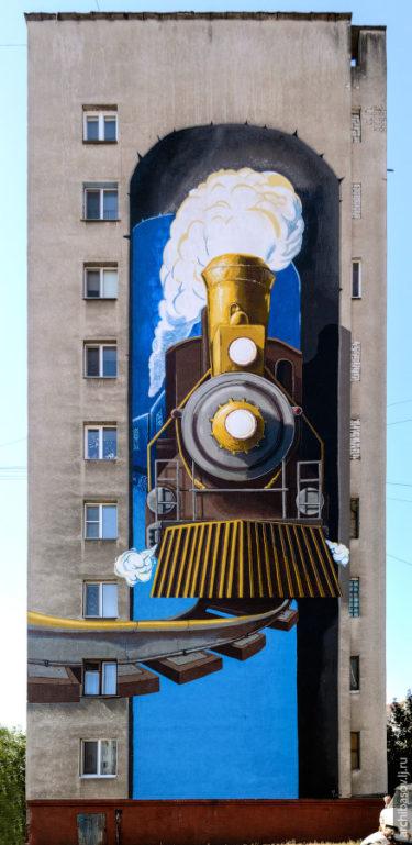 ロシアの建物に描かれている壁画の作り方