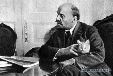 レーニンが猫好きだった事がわかる証拠画像