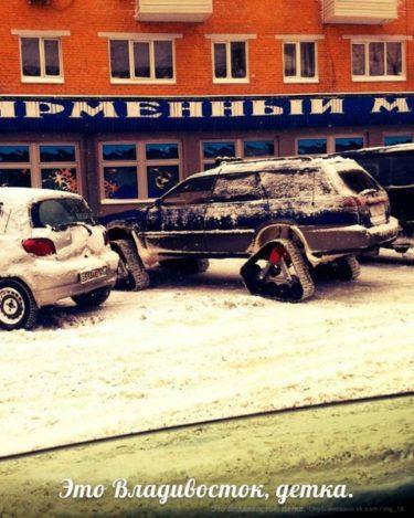 ロシアの冬仕様車がかっこいい