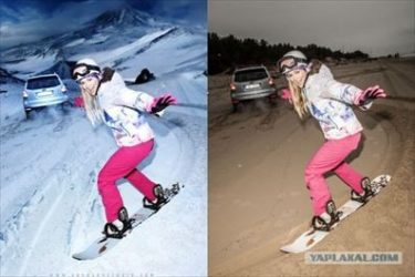 ロシア人カメラマン「冬服の広告を秋に作るのって大変なんだぜ・・・」