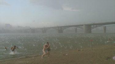 サメ?クラゲ?ロシアのビーチはもっと怖いよ!まるでSF映画のワンシーンのようなロシアの川辺