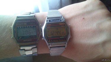 ソ連の腕時計Elektronikaとアメリカの腕時計Montana