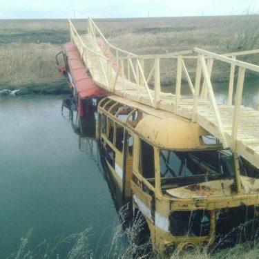橋がなかったらバスで渡ればいいじゃない!ロシア流橋の作り方