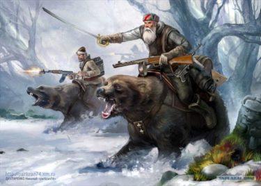 ロシアのありふれた風景?畑仕事をお手伝いする小熊がかわいい