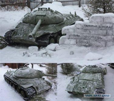 「ロシアはすでに戦う準備はできている」 数百台の戦車がロシア人の畑に現れる!雪だけど