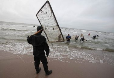 魚ではなく琥珀を狙うカリーニングラードの琥珀漁師たち
