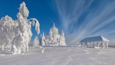 ロシアで撮影された修道院の写真が素晴らしい!今日の関東地方よりも真っ白!!