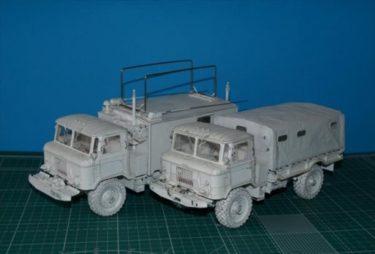 全て紙で作られたロシアの軍用車、ГАЗ-66とКШМ Р-142Нがリアルすぎてすごい!